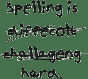 moeilijke woorden om te spellen